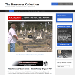 Harrower Collection WW1 Military Research Library Hunter Valley