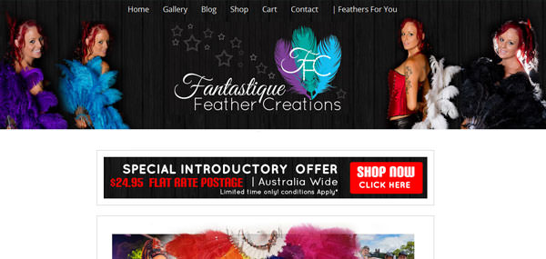Fantastique Feather Creations - Australian Burlesque Feather Fans and Headpieces