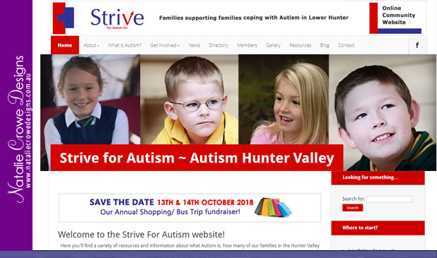 Strive For Autism Draft Website Sitemap