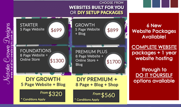 New Website Prices / Website Packages | Hunter Valley Australia