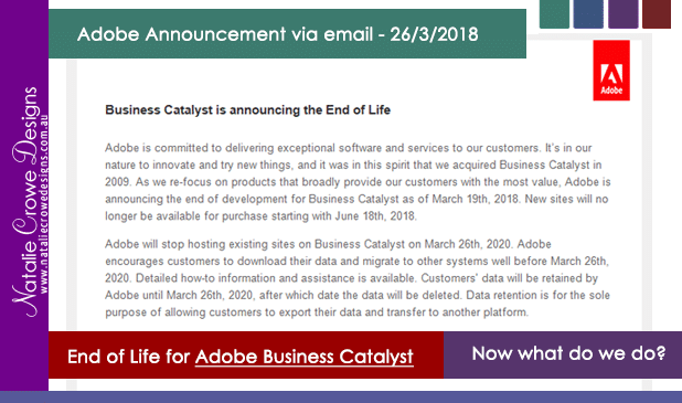 Adobe Business Catalyst discontinued – Now what?