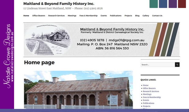 Web Design Maitland | Maitland Beyond Family History Inc
