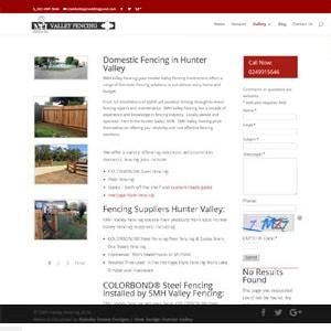 SMH Valley Fencing | Hunter Valley | Cessnock Web Design