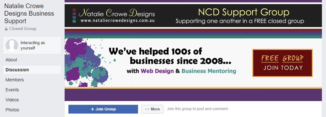 Natalie Crowe Design Free Business Support Group