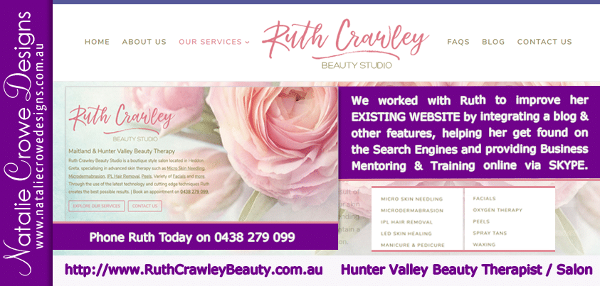 Ruth Crawley Beauty Studio - Website Improvements | Business Mentoring