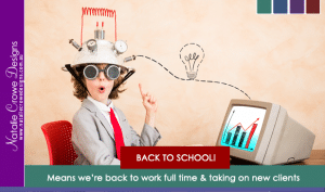 Back To School Means Back to Work | Taking on new Small Business Websites Australia