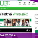 Isa4life - Isagenix | Web Design Maitland