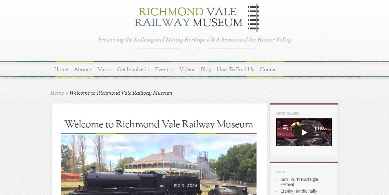 Richmond Vale Railway Museum | Web Design Australia | Natalie Crowe Designs