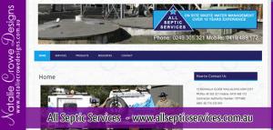 All Septic Services - Cessnock Web Design