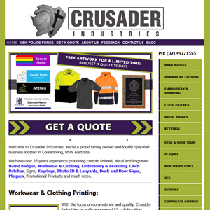 Crusader Industries | Web Design Hunter Valley