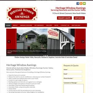 Heritage Windows & Awnings | Web design Cessnock Hunter Valley
