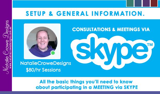 Natalie Crowe Designs Skype Mentoring Info