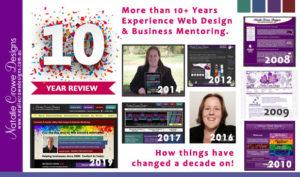 10 Year Review | Natalie Crowe Designs | Web Design Cessnock , Web Design Hunter Valley, Web Design Maitland