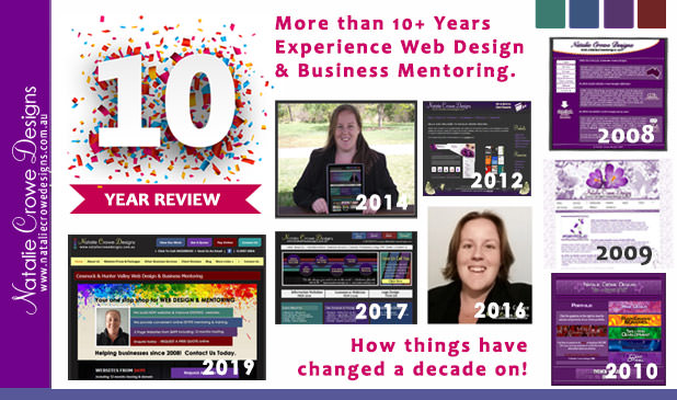 10 Year Review | Natalie Crowe Designs | Web Design Cessnock , Web Design Hunter Valley, Web Design Maitland