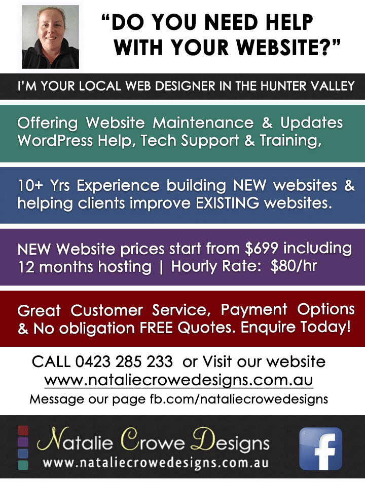 Do you need website help? Web Design Cessnock | Web Design Maitland, Web Design Hunter Valley