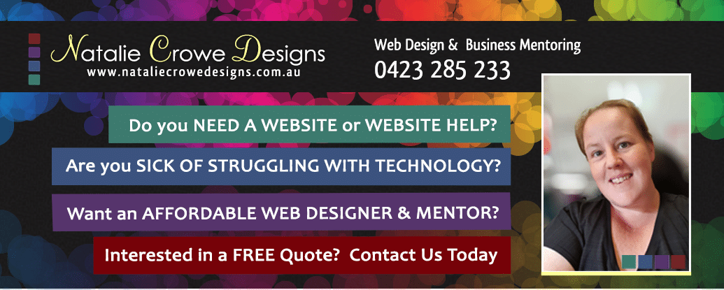 Natalie Crowe Designs | Web Design Cessnock, Web Design Maitland, Web Design Singleton, Website Design Hunter Valley