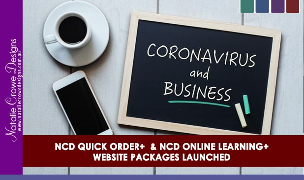 Coronavirus website packages | Natalie Crowe Designs | Online Learning Websites | Online Order Form WEbsites