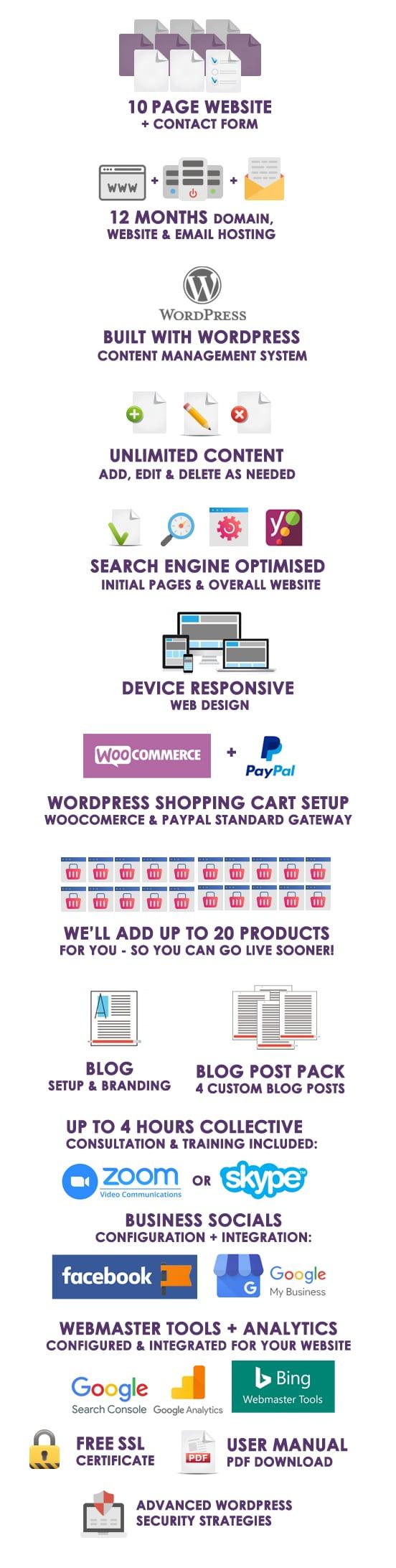 Premium Plus Websites   WordPress Website Packages Australia