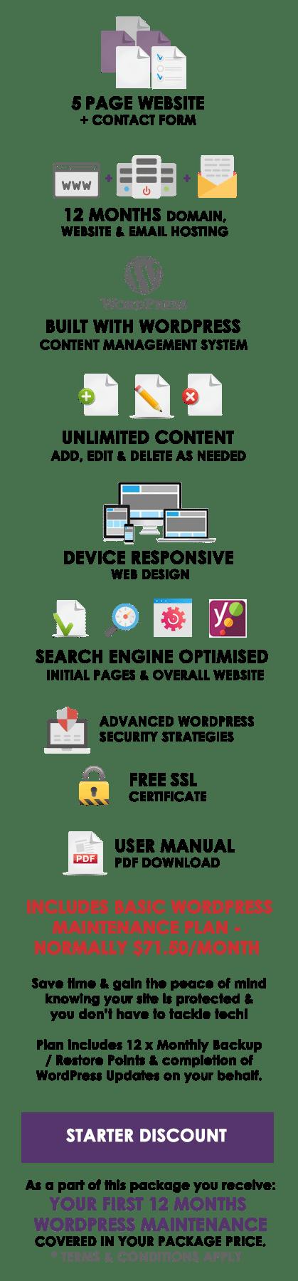 Starter Websites | WordPress Website Packages Australia