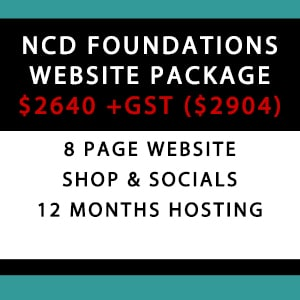 NCD Foundations Website Package - WordPress Website Package Prices Australia