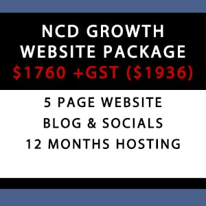 NCDGROWTH WordPress Website Package - Hosting + Social Media | WordPress Website Packages Australia
