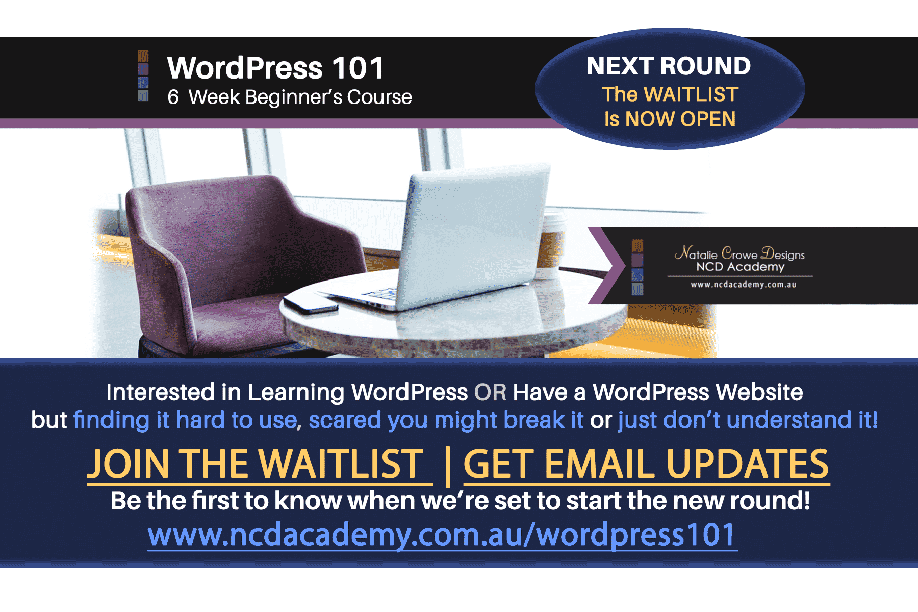 WordPress Courses | WordPress 101 | Learn WordPress | WordPress Course Australia