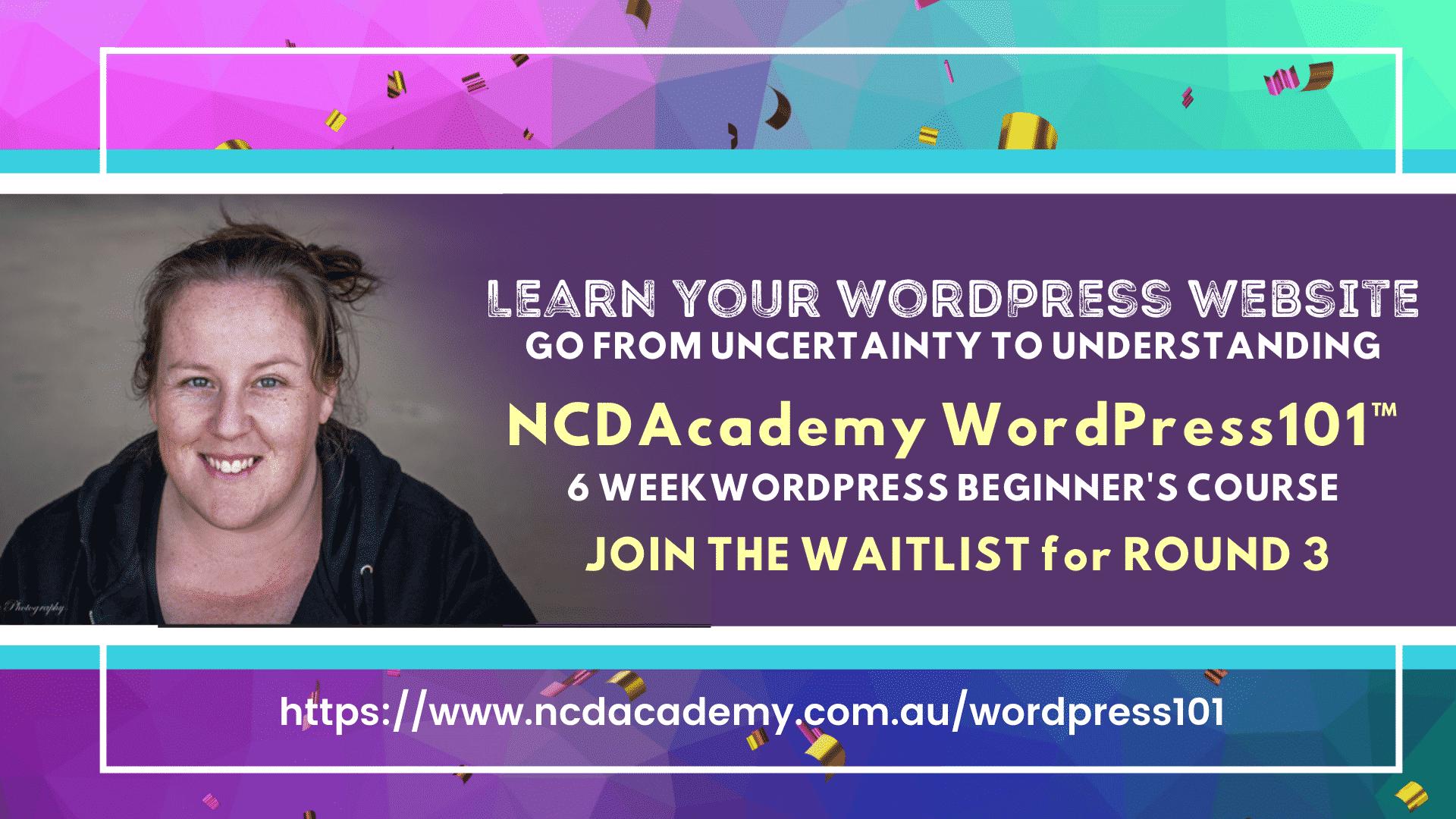 WordPress Courses   WordPress 101   Learn WordPress   WordPress Course Australia